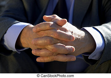 hands of the businessman