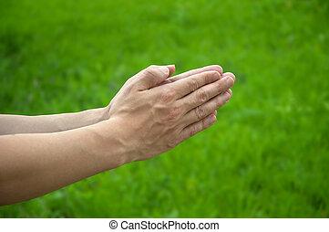 Hands of the prayer