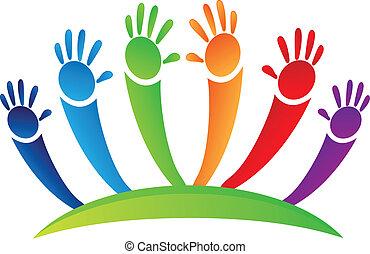 Hands up team logo