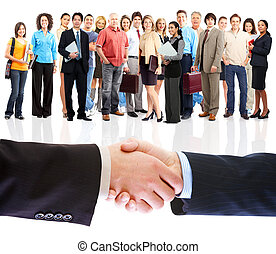 Handshake. Business people meeting.