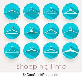 Hanger Shopping Time Shadows