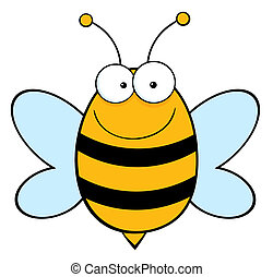 Bee Mascot Cartoon Character
