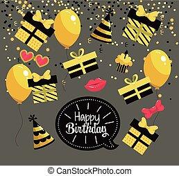 happy birthday celebration with party decoration