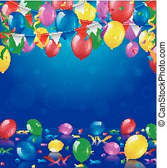 Happy Birthday party with balloons