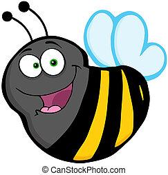 Flying Bee Cartoon Mascot Character
