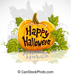 Happy Halloween cut out pumpkin banner