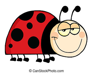 Happy Ladybug Mascot Cartoon Character