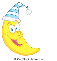 Happy Moon Mascot
