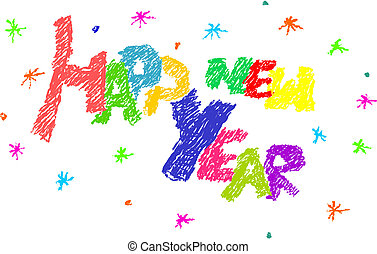 2013 Colorful simple text - happy new year.