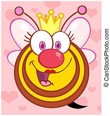 Queen Bee Over Background