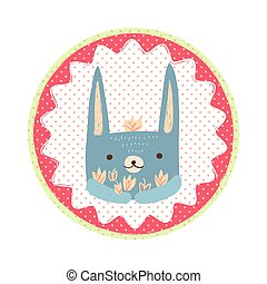 Hare badge emblem