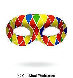 Harlequin mask vector illustration