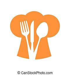 hat chef silverware