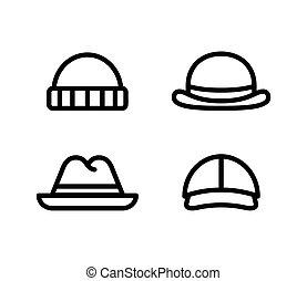 Hat line icons