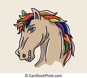 Head Horse Cartoon