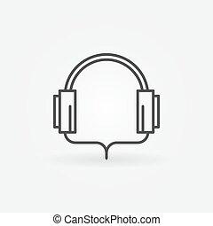 Headphone linear icon