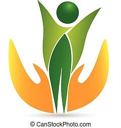 Health care life icon logo vector