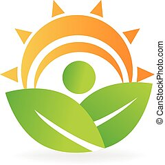 Health nature leafs energy logo