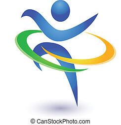 Healthy and happy icon vector