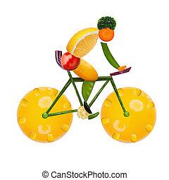 Healthy cyclist.