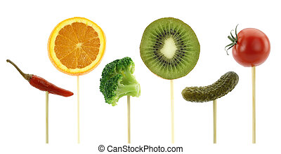 Healthy eating concept. Vegetables and fruits