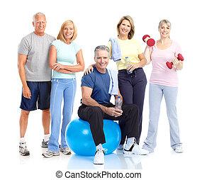 Healthy elderly people.