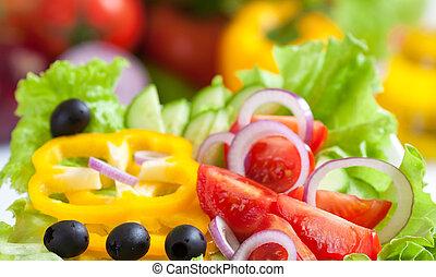 healthy food fresh vegetable salad