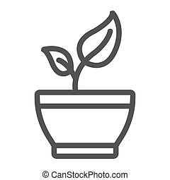 Healthy food line icon, fitness and sport, diet sign vector graphics, a linear pattern on a white background, eps 10.