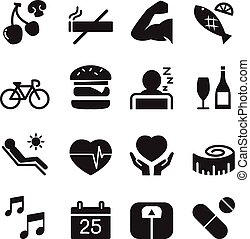 Healthy icons set 2 Vector illustration