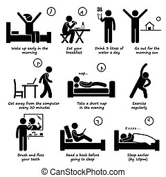 Healthy Lifestyles Daily Routine