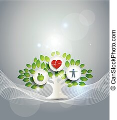 Healthy living symbol