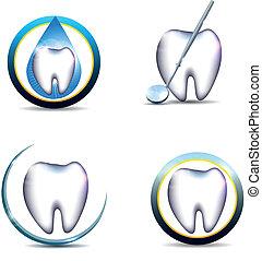 Healthy teeth symbols