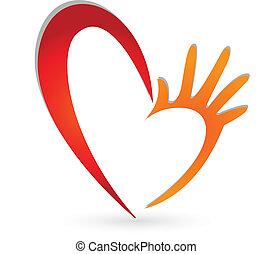 Heart hands logo