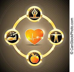 Heart health wheel