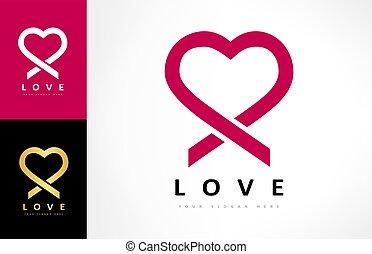 Heart logo vector. Love design.