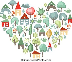 Heart made of trees. I love country