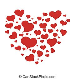 Heart shape icon. Love concept. Vector graphic