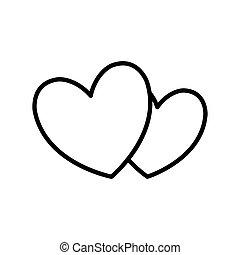 heart shape love romantic icon.