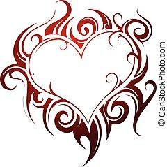 Heart shape tattoo