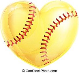 Heart Shaped Softball
