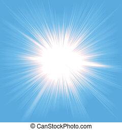 Illustration of a beautiful starburst light background