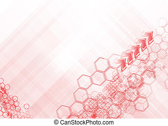 Red geometrical elements on white background. Eps 10 vector