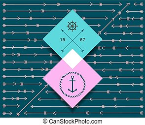 hipster background vector pattern1458