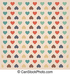 hipster hearts pattern