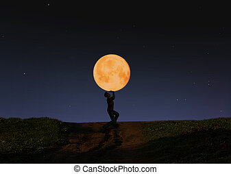 holding the moon