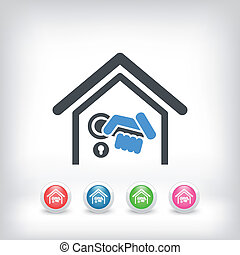 Home door handle icon