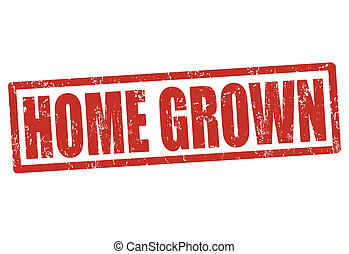 Home grown stamp
