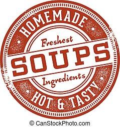 Homemade Soups Vintage Sign