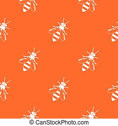 Honey bee pattern seamless
