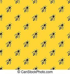 Honey bee pattern vector